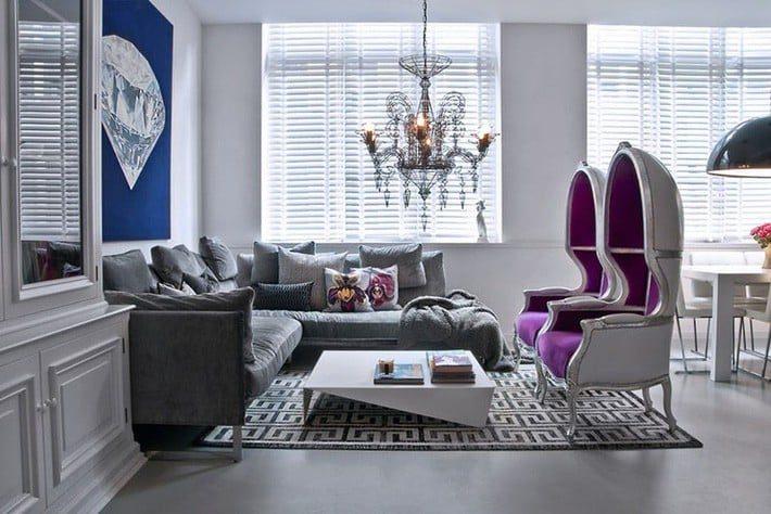 Những mẫu phòng khách màu xám vừa đẹp lại vừa sang