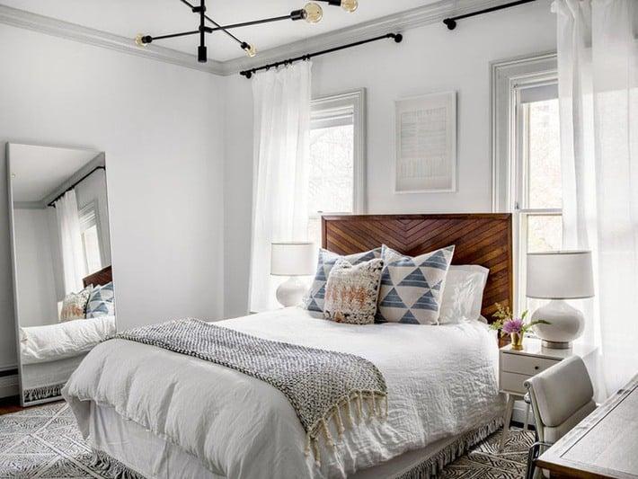 Những mẫu phòng ngủ sắc trắng điệu đà dành cho phái nữ