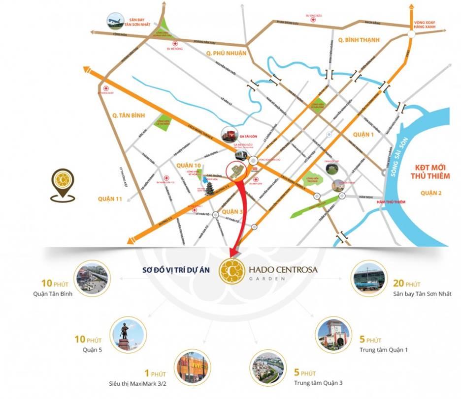 Tiện ích dự án Hado Centrosa Garden hiện đại, kết nối dễ dàng với khu vực trung tâm và các tỉnh lân cận