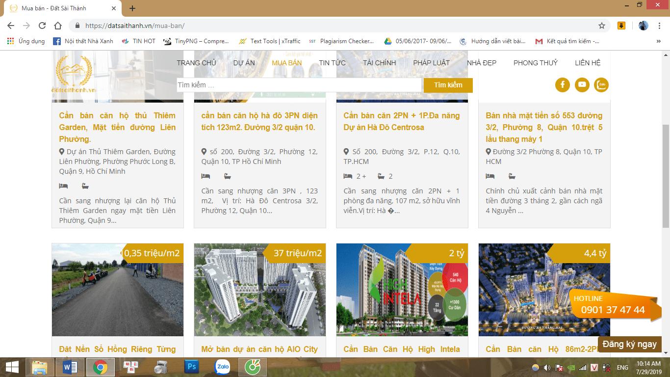 Đất Sài Thành – Trang Website đăng tin bất Bất động sản uy tín nhanh chóng nhất hiện nay