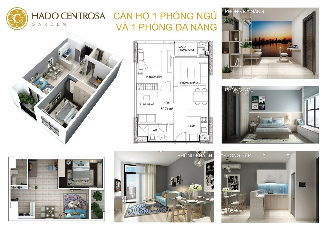 Thiết kế căn hộ mẫu dự án HaDo Centrosa Garden